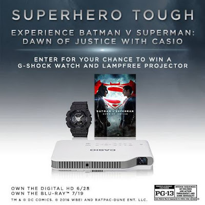 Casio USA is giving away the Ultimate BatmanvSuperman prize pack Enter now