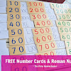 Number Cards and Roman Numerals (with FREE Cards)