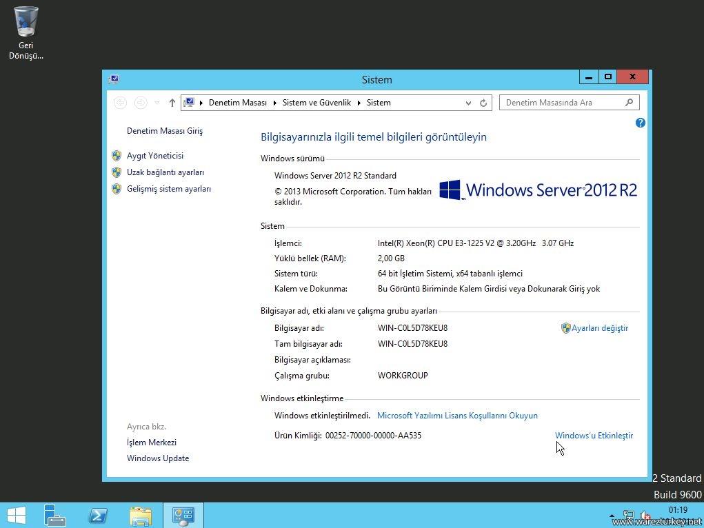 Windows Server 2012 R2 VL with Update (x64) - DVD Türkçe