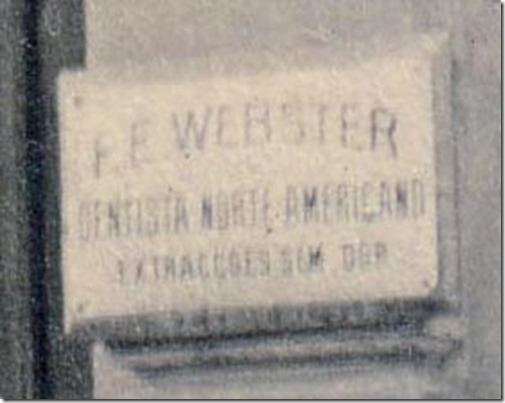Fred Webster Dentist Sign