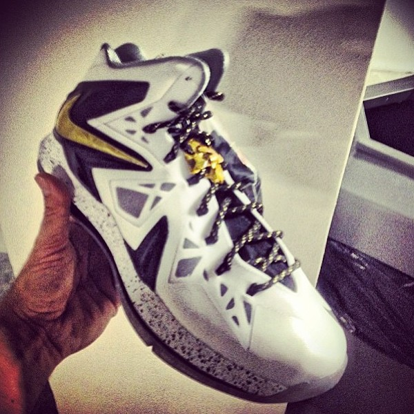 cheap for discount bfc16 75527 ... White Metallic Gold-Black. 280 Nike LeBron X PS Elite 8211  WhiteBlackGold 8211 Release Date