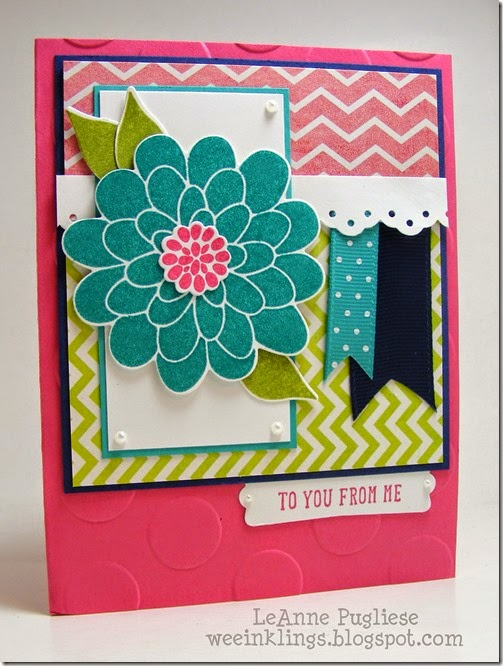 LeAnne Pugliese WeeInklings ColourQ257 Flower Patch Stampin Up