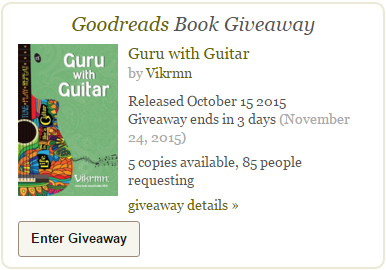 goodreads_giveaway_2015_free_guru_with_guitar_life_like_guitar_tune_play_repeat_quote_vikrmn_gwg_novel_chartered_accountant_ca_author_srishti_vikram_verma_tpr