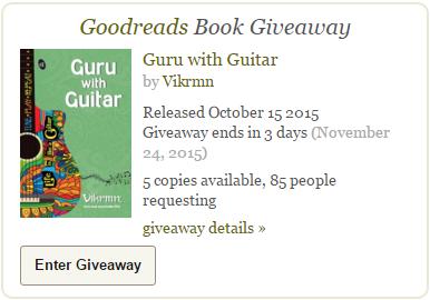 goodreads_giveaway_2015_free_guru_with_guitar_life_like_guitar_tune_play_repeat_quote_vikrmn_gwg_novel_chartered_accountant_ca_author_srishti_vikram_verma_tpr
