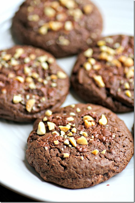 Triple Chocolate Peanut Butter Cookies2
