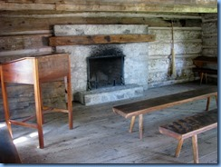 8253 King St - Port Colborne -Historical & Marine Museum - inside Log Schoolhouse (1835)