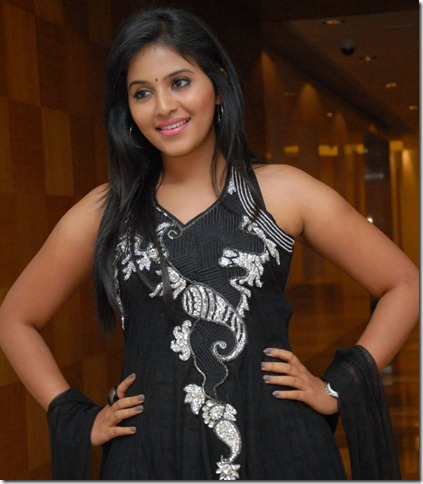 Actress Anjali Cute Photo Shoot Stills in Black Salwar Kameez