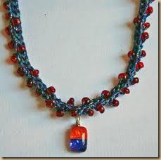 crochet necklace beads