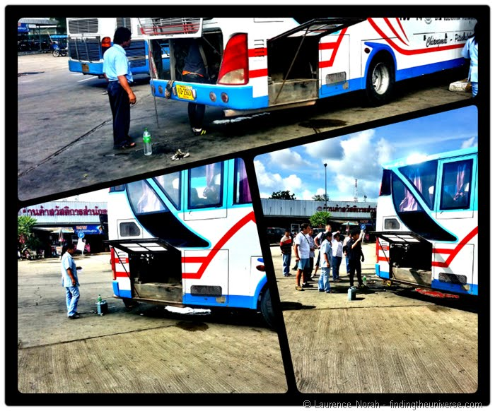 Bus mechanical failure Thailand