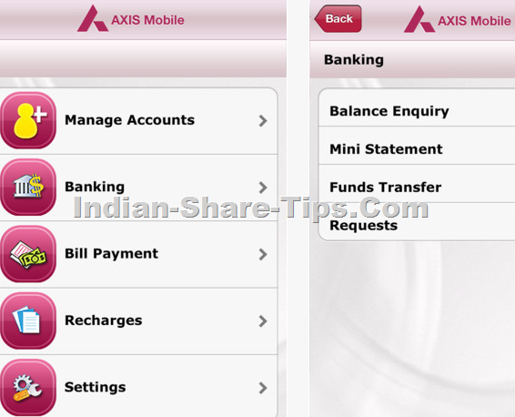 axis bank iphone app