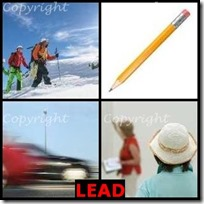 LEAD- 4 Pics 1 Word Answers 3 Letters