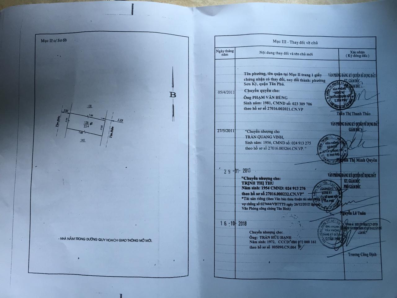 Bán nhà hẻm Bờ Bao Tân Thắng Quận Tân Phú, nhà hai mặt tiền hẻm 79, diện tích 3m x 8m, 1 trệt 1 lầu đúc giả, giá chính chủ 2,45 tỷ TL nhẹ.2