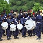 La fanfare de la police à Kisangani, décembre 2010.