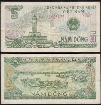 Tờ 5 Đồng Việt Nam Năm 1985