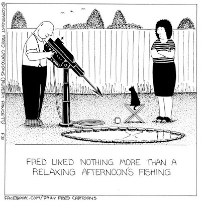 A relaxing afternoons fishing Fred Ilovefred cartoons Rupertfawcett