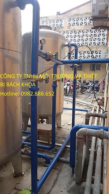 hệ thống bình lọc trọng lực xử lý nước
