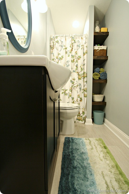 Bright Basement Bathroom Done From Thrifty Decor Chick - Building a basement bathroom