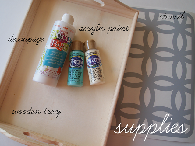 DIY stenciled tray