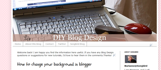 How to add a horizontal navigation bar in Blogger