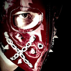 Going to pull a pattern from this mask and redo it in leather... minus the chains and silly spikes. by Jake Hancock - People Portraits of Men