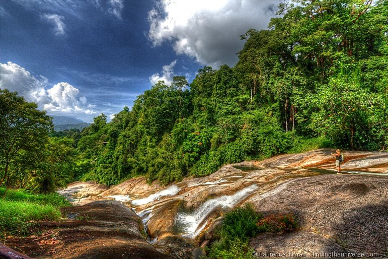Namtok Karom waterfall level 4 Khao Luang National Park Thailand
