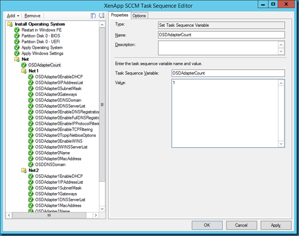MINDCORE BLOG: Apply Network Settings in a task sequence