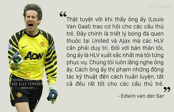Edwin van der Sar: Đối với bản thân tôi, Louis van Gaal