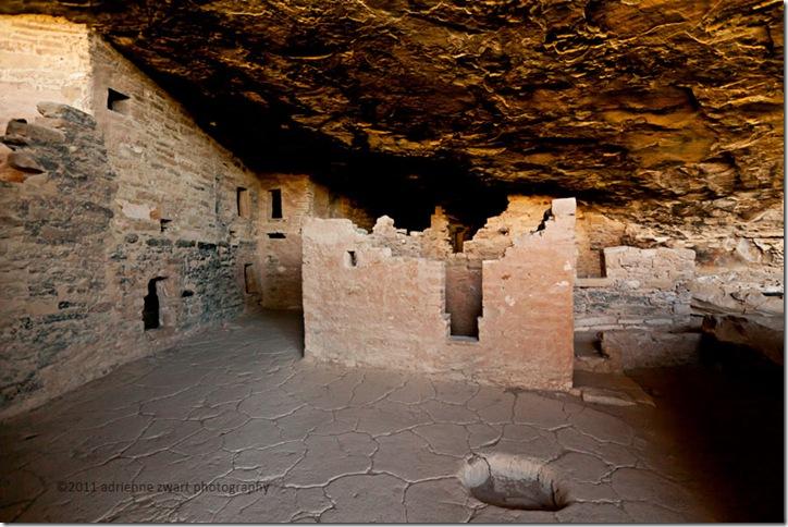 cliff dweller ruins at Mesa Verde - photo by Adrienne Zwart