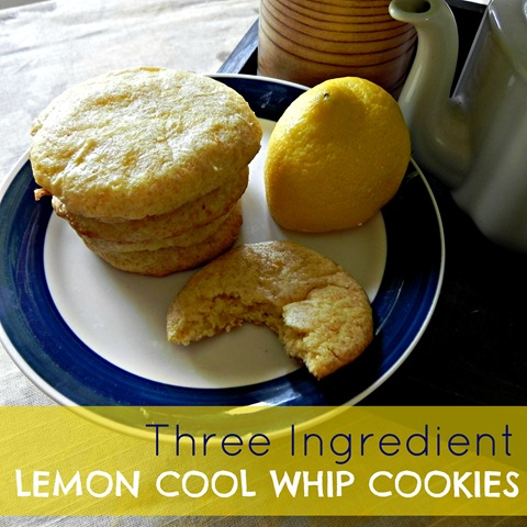 Three Ingredient Lemon Cool Whip Cookies