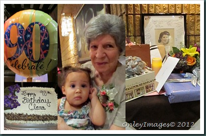 90th bday collage