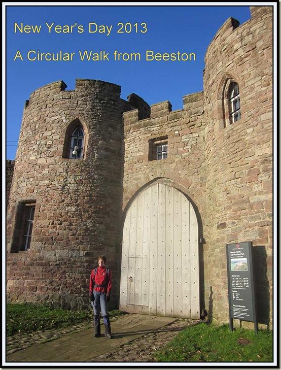 Outside the entrance to Beeston Castle