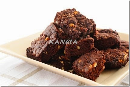 brownie con sirope agave