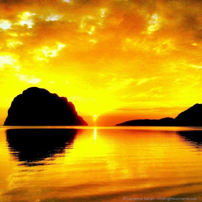 Sunset Pak Meng beach Thailand