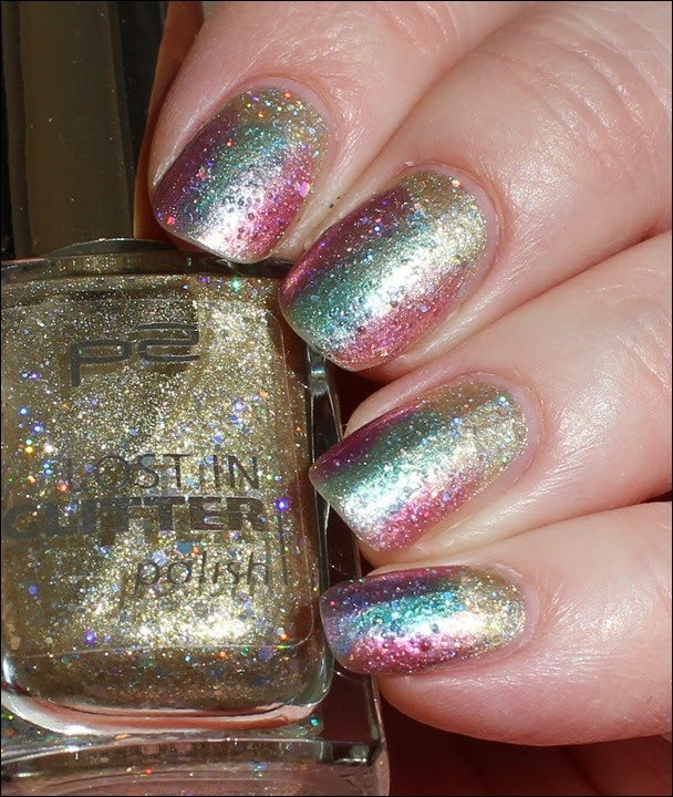 Colorful Color Mix Nail Art Nageldesign bunt OPI Sheer Tints Glitter Spring 05