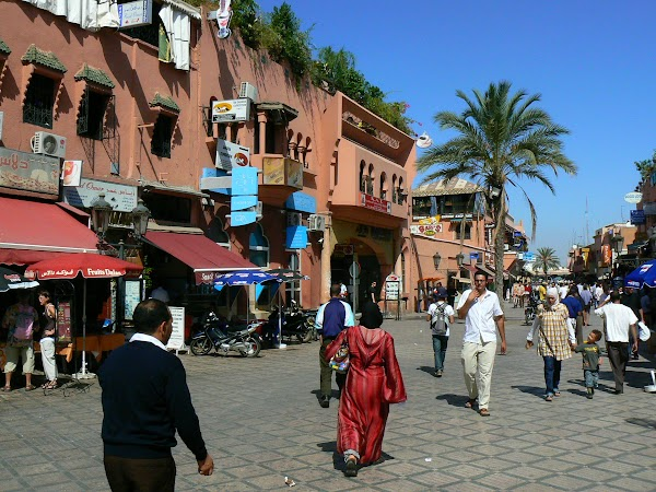 Imagini Marrakech: spre Jema el Fnaa