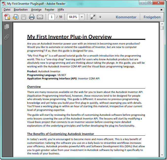 Autodesk Inventor FAQ: August 2011