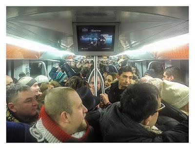 Rom: Geocaching über Silvester - überfüllte Metro