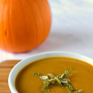 Pumpkin Soup with Apple & Spices.