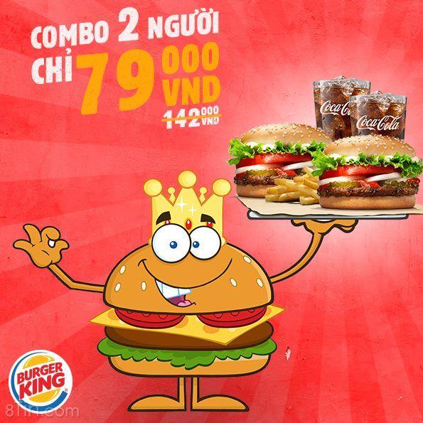 Combo 79k theo trào lưu xí :v  Đây là Burger King