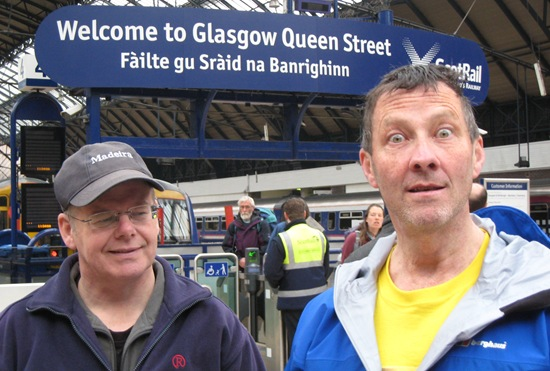 DAVE & ANDY @ QUEEN STREET STATION, GLASGOW