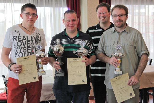 Vereinsmeisterschaften 2013: Siegerehrung Einzel