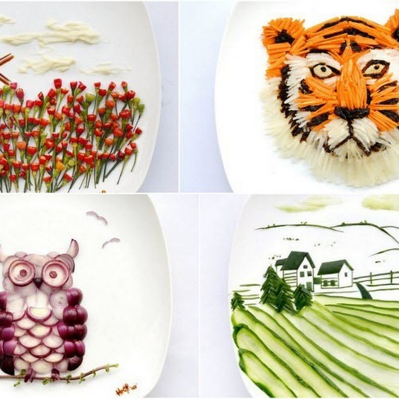 Creative Food Art by Hong Yi