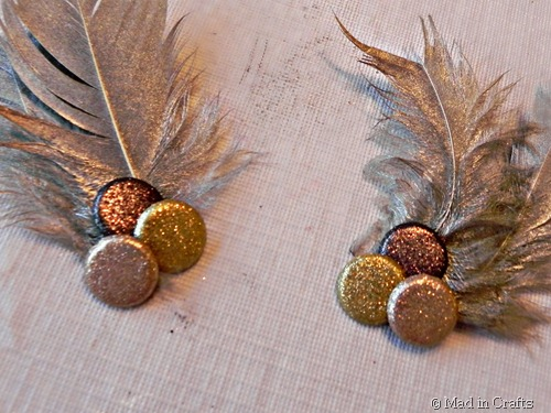 feather and bead embellishments