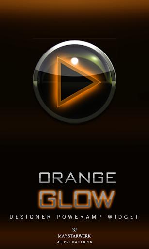 Poweramp Widget Orange Glow