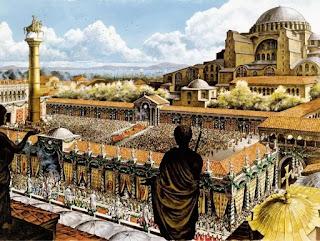 Hình ảnh đế quốc Byzantine.