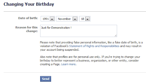 How to change date of birth