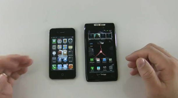iPhone 4s vs Motorola Droid Razr