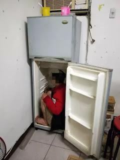 Đài Loan phát hiện lao động Việt Nam trong tủ lạnh.