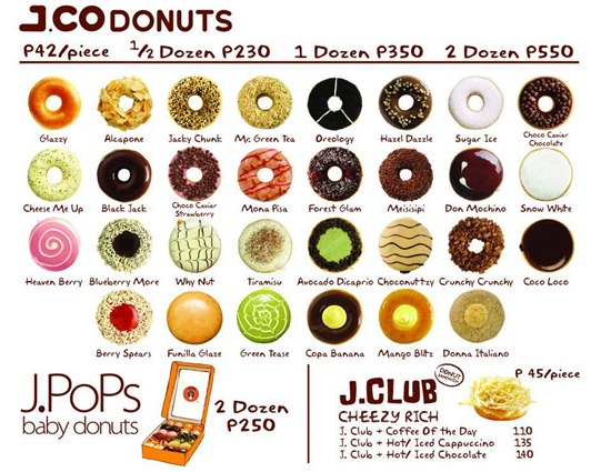J.CO Donuts Names