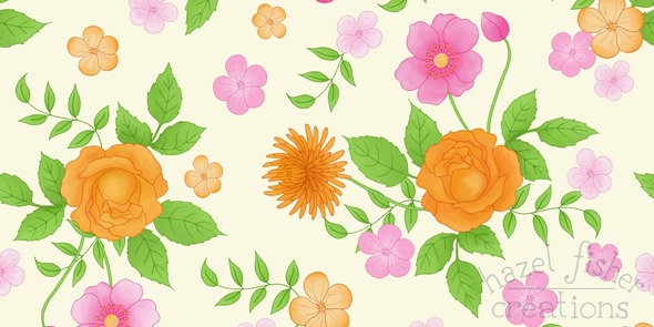 2014 June 07 flower design t shirt competition pattern illustration 3
